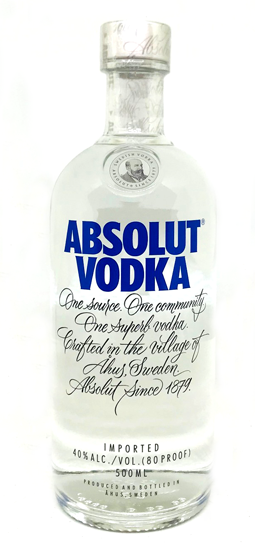 Absolut Vodka 500 ml